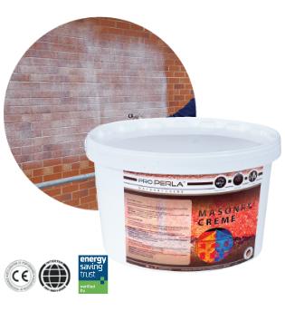 The clear wateproof masonry cream for brickwork